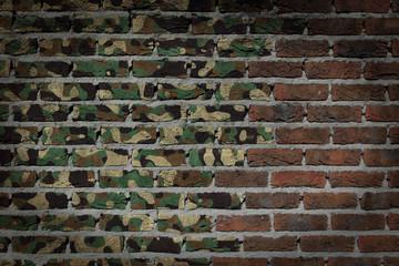 Dark brick wall - Army camouflage