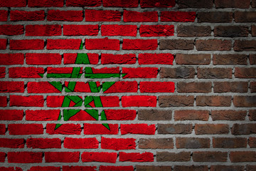 Dark brick wall - Morocco