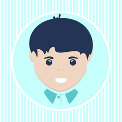 European boy. Vector illustration