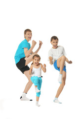 Exercising children