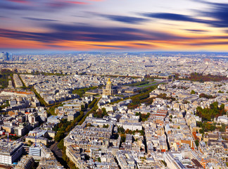 Breathtaking view over Paris