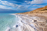 Fototapety View of Dead sea coastline