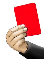 Rote Karte Illustration