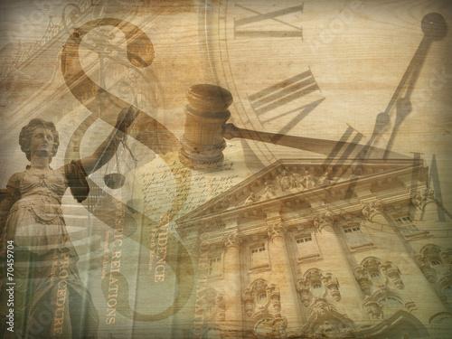 Leinwanddruck Bild Justice Collage
