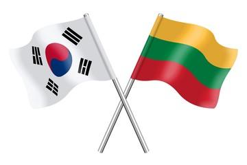 Flags: South Korea and Lithuania