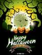 Vector illustration on a Happy Halloween theme