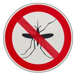interdit aux moustiques, panneau signalisation