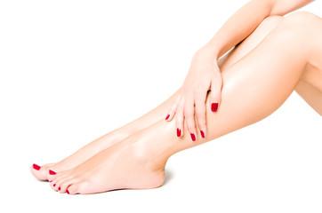 Beautiful well-groomed female legs