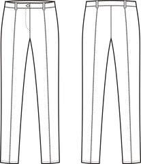 Vector illustration of women's pants