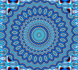 blue mosaic mandala background