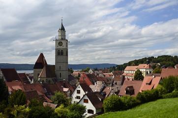 Häuser de Altstadt mit Pfarkirche, Überlingen
