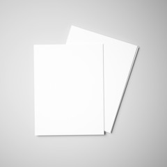 Papers on gray background