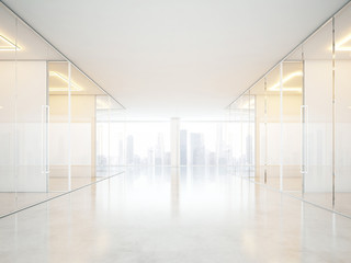 White office interior with panoramic windows
