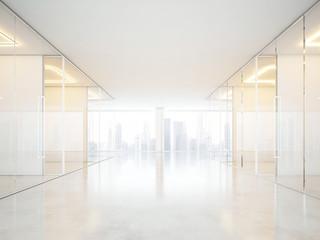 White office interior with panoramic windows