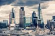 Leinwanddruck Bild - The City of London, Cross Process