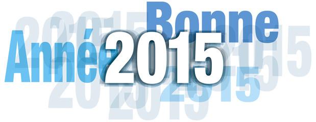 bonne année 2015 bleu transparent kazy