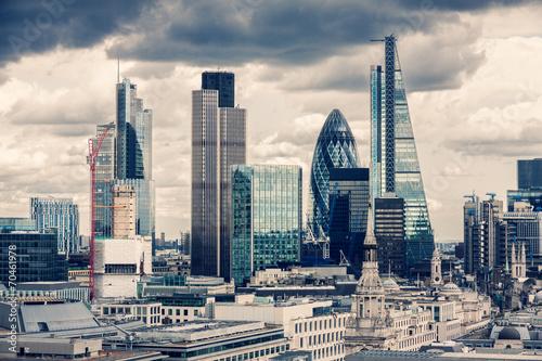 Leinwanddruck Bild The City of London, Cross Process