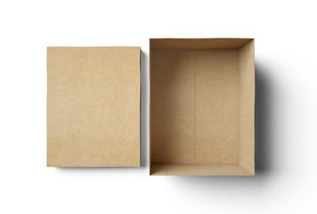 Empty isolated box