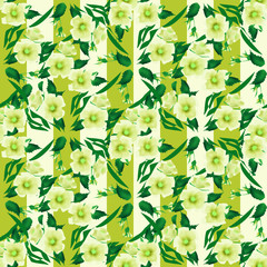 Seamless floral pattern texture striped background