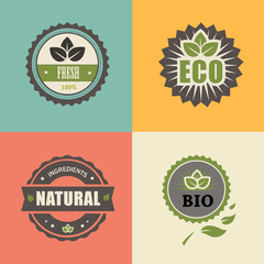 BIO stamp; ECO, ORGANIC Labels Collection.