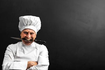 cuoco pazzo alla lavagna