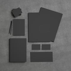 Black identity elements on textile background