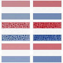Mosaic Netherlands flag set