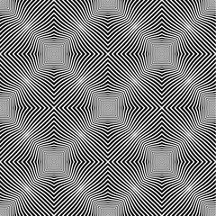 Op Art Style Vector Seamless Pattern