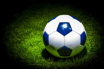soccerball in the spotlight