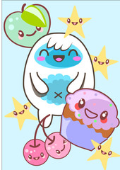 Kawaii Cute figures and characters