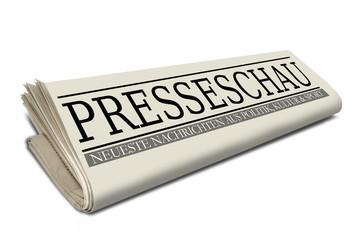 Zeitungsrolle mit Presseschau