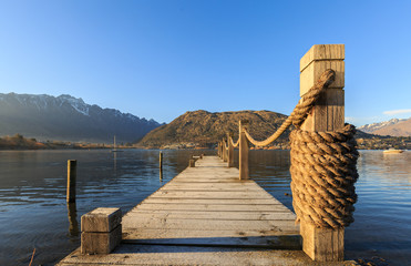 Wooden pier in the morning