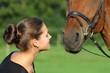canvas print picture - Liebe zum Pferd