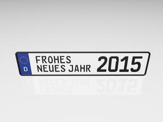 Kennzeichen - Frohes Neues Jahr 2015