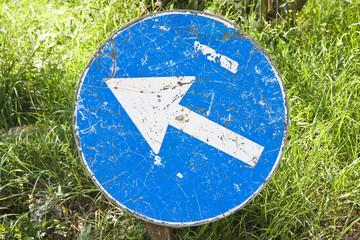 Blue Arrow Sign - concept image