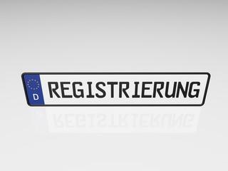 Kennzeichen - Registrierung