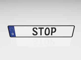 Kennzeichen - Stop