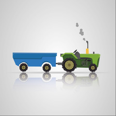 Tractor and trailer agriculture