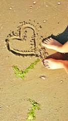 Urlaubsgruß im Sand