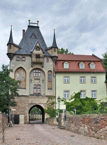 canvas print picture gatehouse in Meissen