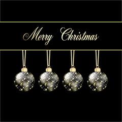 Weihnachtskarte schwarz gold