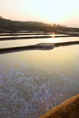 GOKARNA,INDIA - Feb 27: Salt plantation near Gokarna, India.