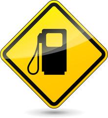 Vector gas oil sign