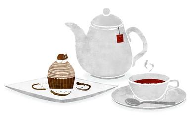 モンブランと紅茶 <茶>