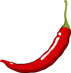 Red Hot Chili Pepper. Vector Illustration