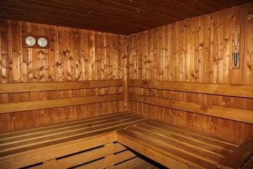 sauna bois chaud