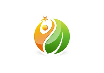 wellness,health,logo,people,natural,leaf,botany,ecology,fitness