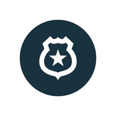 police badge circle background icon.