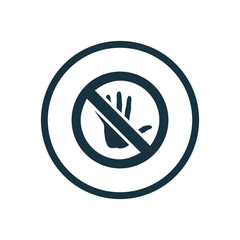 do not touch circle background icon.