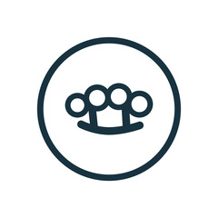 knuckle circle background icon.